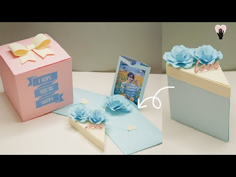 조각케이크 상자편지를 만들어 보았습니다! DIY ASMR / NO BGM / REAL SOUNDㅣ 사랑지킴이 은별❤️