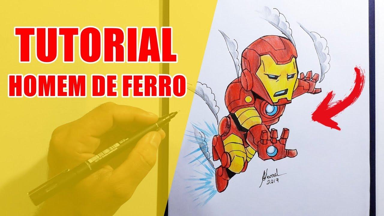 Como Desenhar O Homem De Ferro Vingadores Ultimato