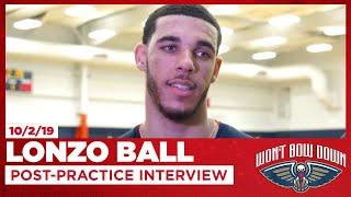 Lonzo Ball Talks Pelicans Fast Pace Zion Lob Practice  New Orleans Pelicans