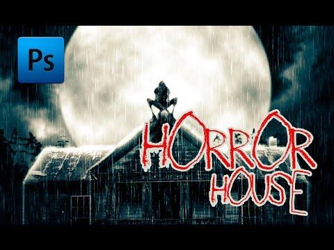 Horror house - Photoshop tutorial (full version) thumbnail