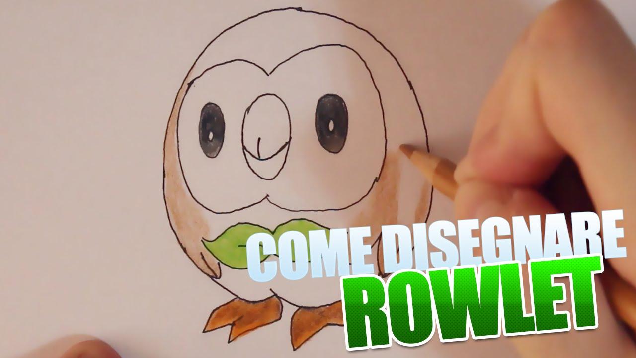 Come disegnare rowlet pok mon sole e luna tutorial for Sole disegno da colorare