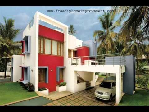 Exterior wall paint ideas youtube for Outer painting design