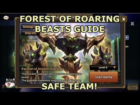 Summoners War - SAFE KARZHAN TEAM - Forest Of Roaring Beasts 5