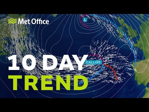 10 Day trend – Busy week ahead with storms after a hit of late summer 10/10/18