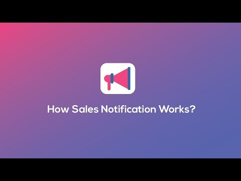 how sales notification works