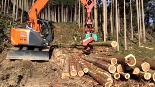 高性能林業機械(プロセッサ)による造材
