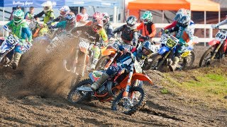 Jake Pinhancos was the most dominant rider in the 125 Two Stroke Cl...