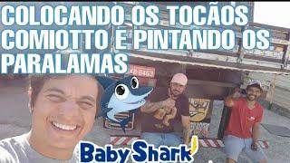 COLOCANDO TOCÃOS E PINTANDO OS PARALAMAS DO BABY SHARK 🦈 + CARREGAMENTO POR OSELAME BATATAS
