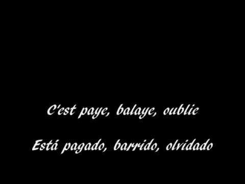 Edith Piaf Rien de rien subtitulos frances español