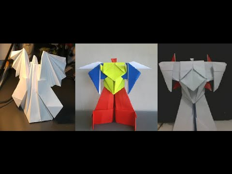 origami angel amp origami robot transformer amp origami robot