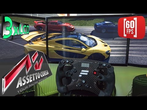 Assetto Corsa | Epic ADAC 24h race | MCLAREN P1 vs the world od supercars | Fanatec V2 3xLCD