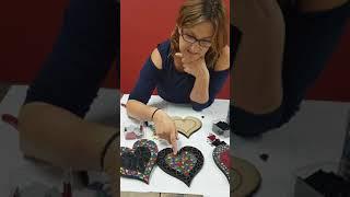 Engraved Mosaic Hearts