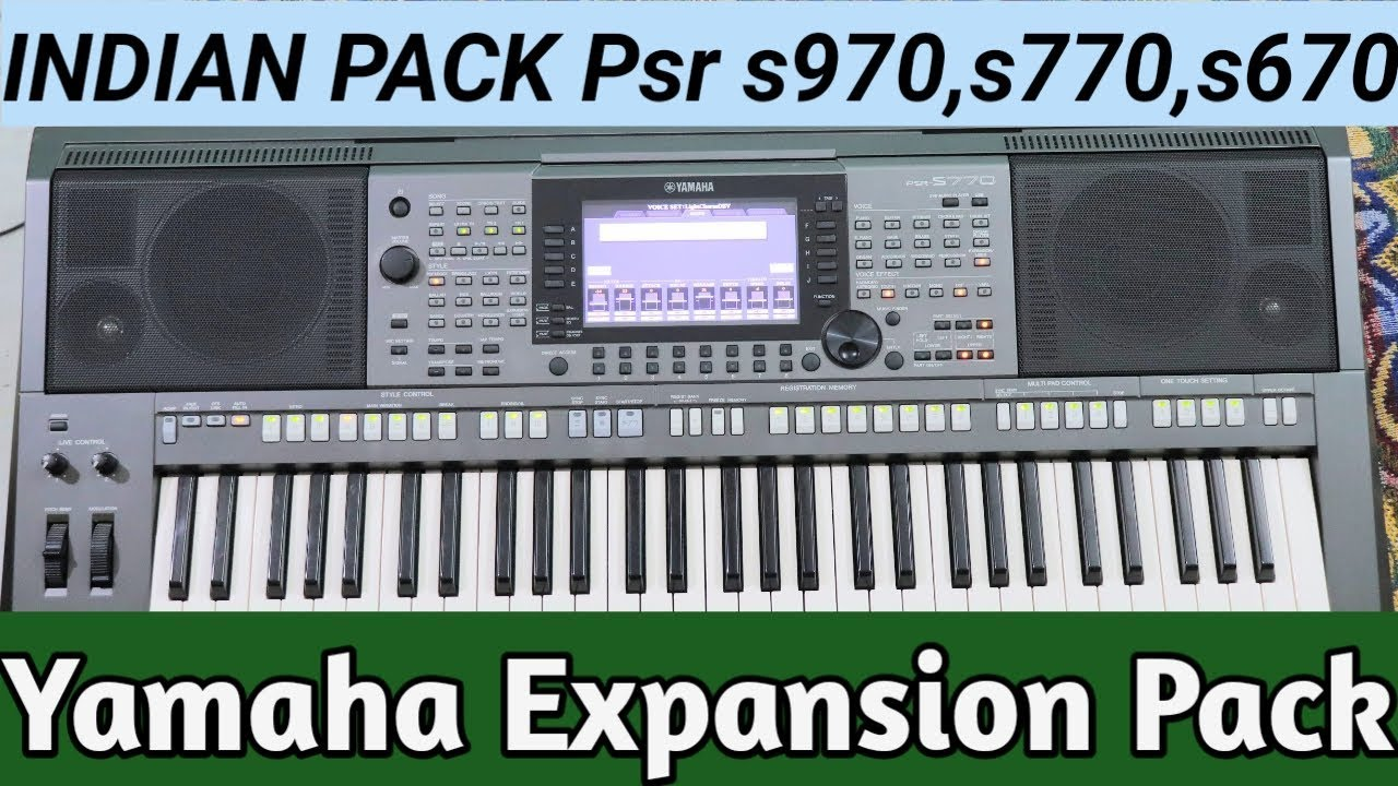 Download Yamaha Expansion Pack Entertainer PSR s970, s770