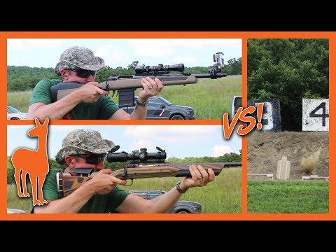 Savage Scout Rifle Vs Hunting Rifle Vs Moving Targets! Savage 110 Scout In 308 Win