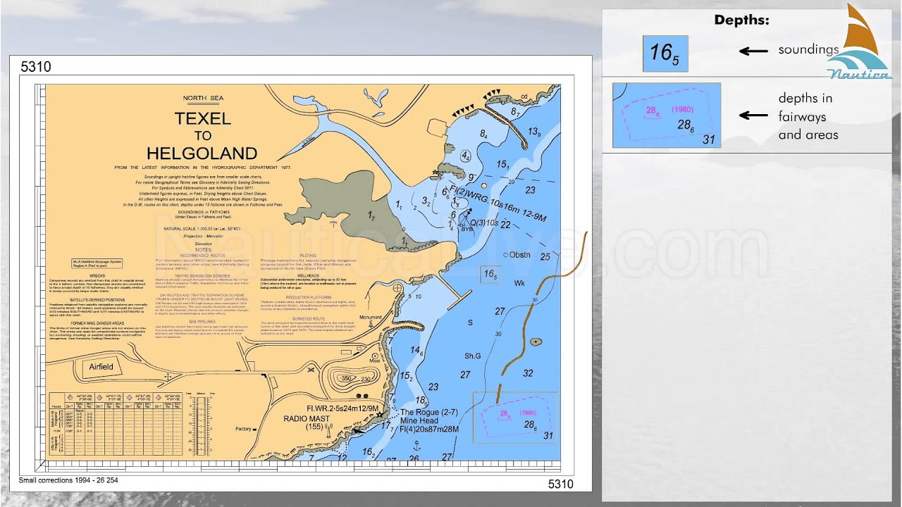17 reading the nautical charts depths and dangers youtube