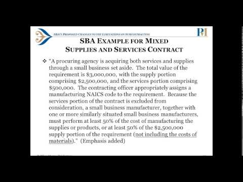 SBA Proposes Subcontracting Reforms and Other Changes