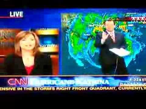 CNN Weatherman Chad Myers freaks out - Hurricane Katrina