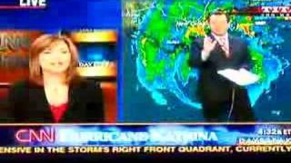 CNN Weatherman Chad Myers freaks out - Hurricane Katrina