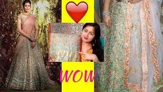 Designer Breezy Blue Color Silk Wedding,Reception Wear Designer Lehenga Choli Review From Ethnicroop