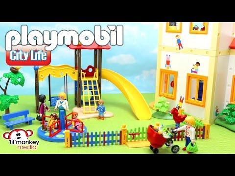 Playmobil City Life! Sunshine Preschool, Children's Playground and 3 More Add-on Sets!