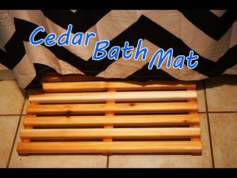 How To Make A Cedar Bath Mat