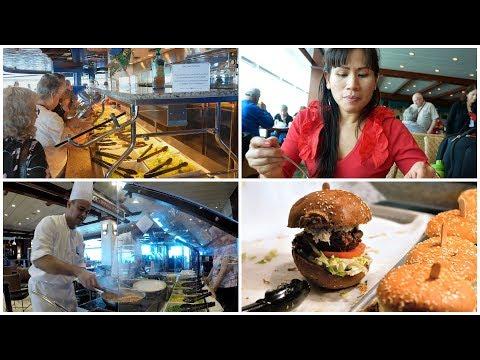 cruise-ship-food---lunch-buffet-&-tea-time-on-royal-caribbean-(4k)