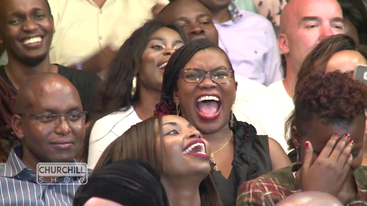 Image result for Happy kenyans in churchill show