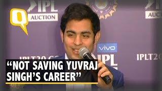 We Aren't Saving Yuvraj Singh's Career: Mumbai Indians After IPL Auction | The Quint