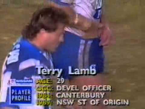 Terry Lamb Try 1991 Rd 21 Canterbury v Newcastle