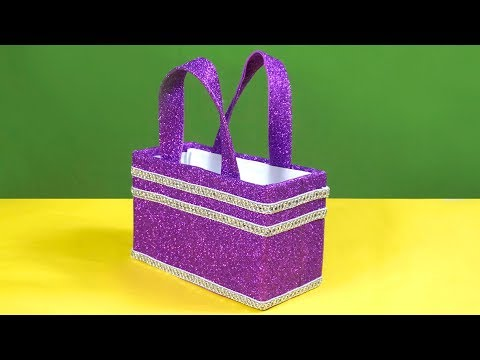 DIY Basket Out of Shoe Box | How to Reuse Waste Shoe box at Home | Awesome Ideas