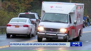 20 killed when limo crashes while on way to birthday party in upstate NY