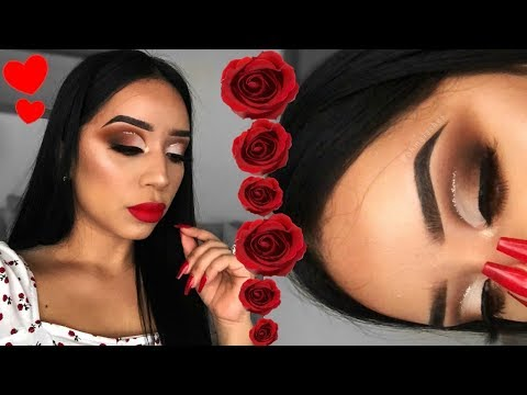 MAKEUP MONDAY | CLASSIC VALENTINES MAKEUP LOOK | BROWN EYES + RED LIPS!