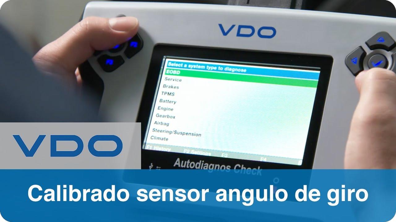 Calibrado sensor ángulo de giro | VDO Autodiagnos Check
