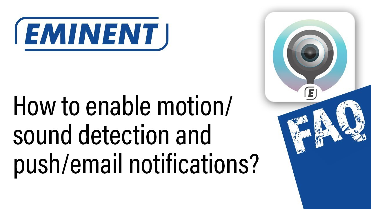 Motion/sound detection and email settings: CamLine Pro IP Cameras