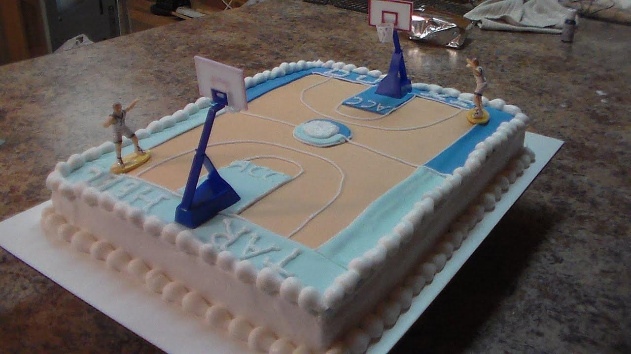 Demonstration Simple Basketball Sheet cake DukeUNC YouTube