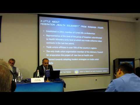 Social  Dialog  on  Romanian Healthcare System - Seminar Zagreb - FSSR