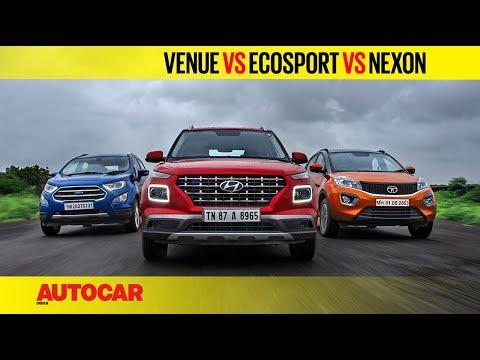 Hyundai Venue vs EcoSport vs Nexon - Petrol Automatic