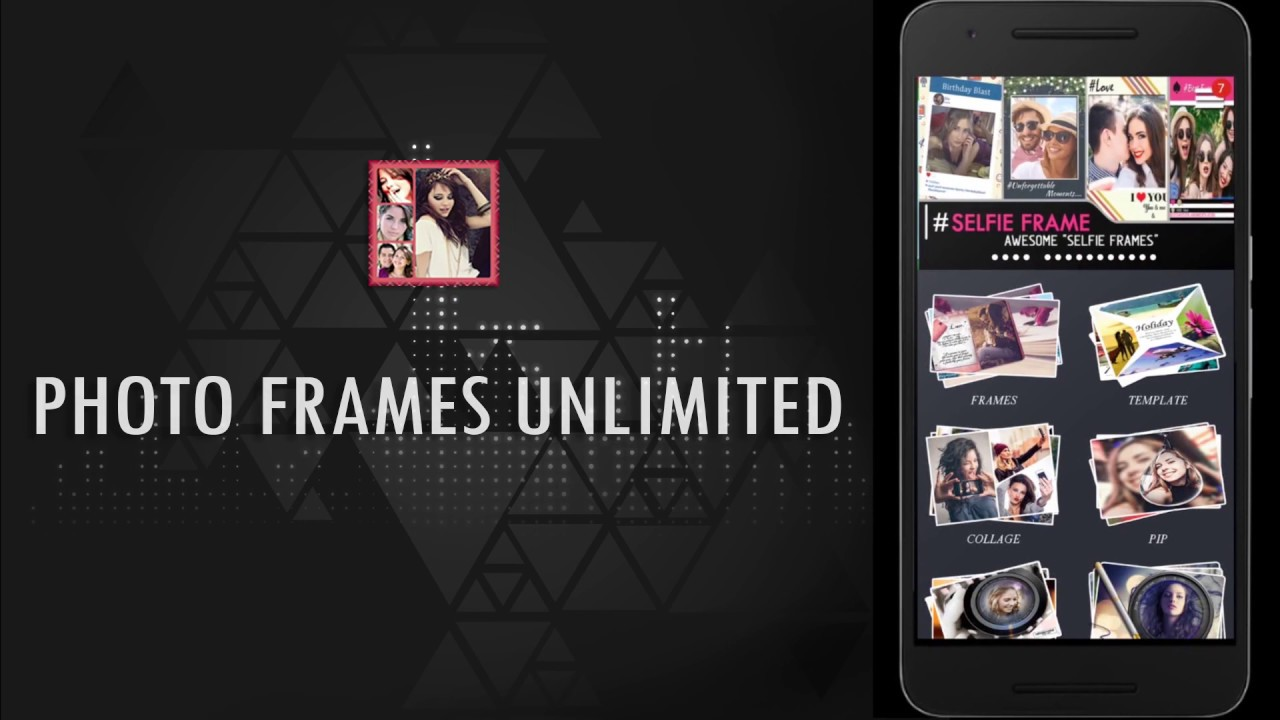 Photo Frames Unlimited - Free Android App - YouTube