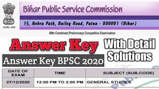 1 4 Bpsc 66th Prelims Answer Key 2020 Answer Key Bpsc 2020 Answer Key Bpsc Youtube
