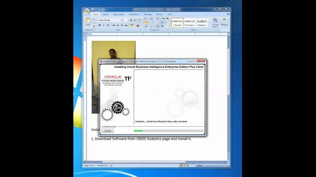 Installing Oracle Bi Client on Windows