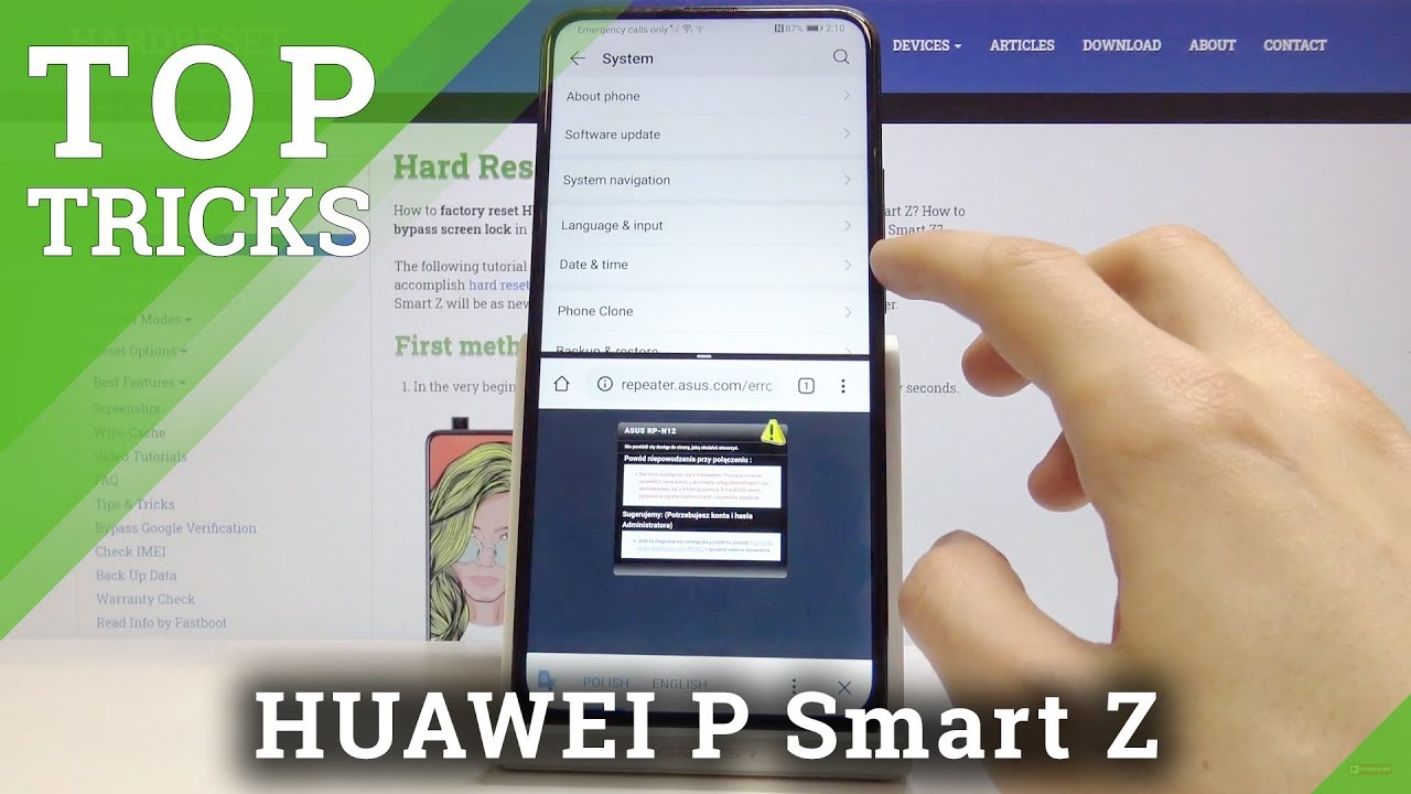 Locate the HUAWEI P smart Z with a specialized app
