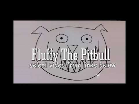 fluffy the pitbull logo