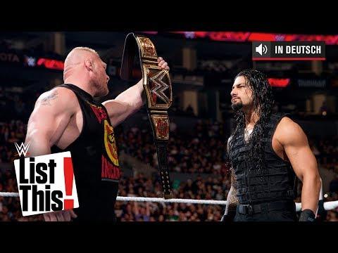 Die 5 größten Rivalen von Roman Reigns: WWE List This!