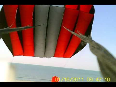 Mini camera on a 240 Flow Form kite