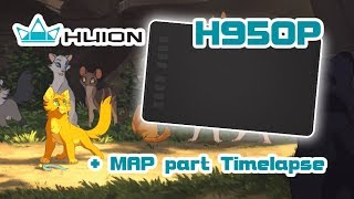 Huion H950P Graphics Tablet Unboxing/Review + MAP part Timelapse