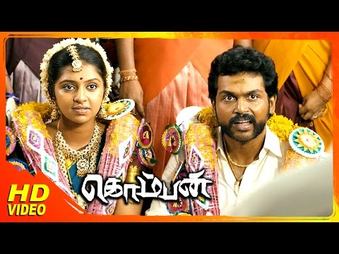Komban Tamil Movie | Scenes | Karthi And Lakshmi Menon's Marriage | Rajkiran