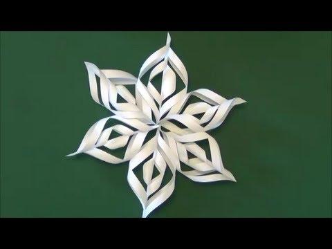 簡単 折り紙 折り紙 雪の結晶 切り方 : youtube.com