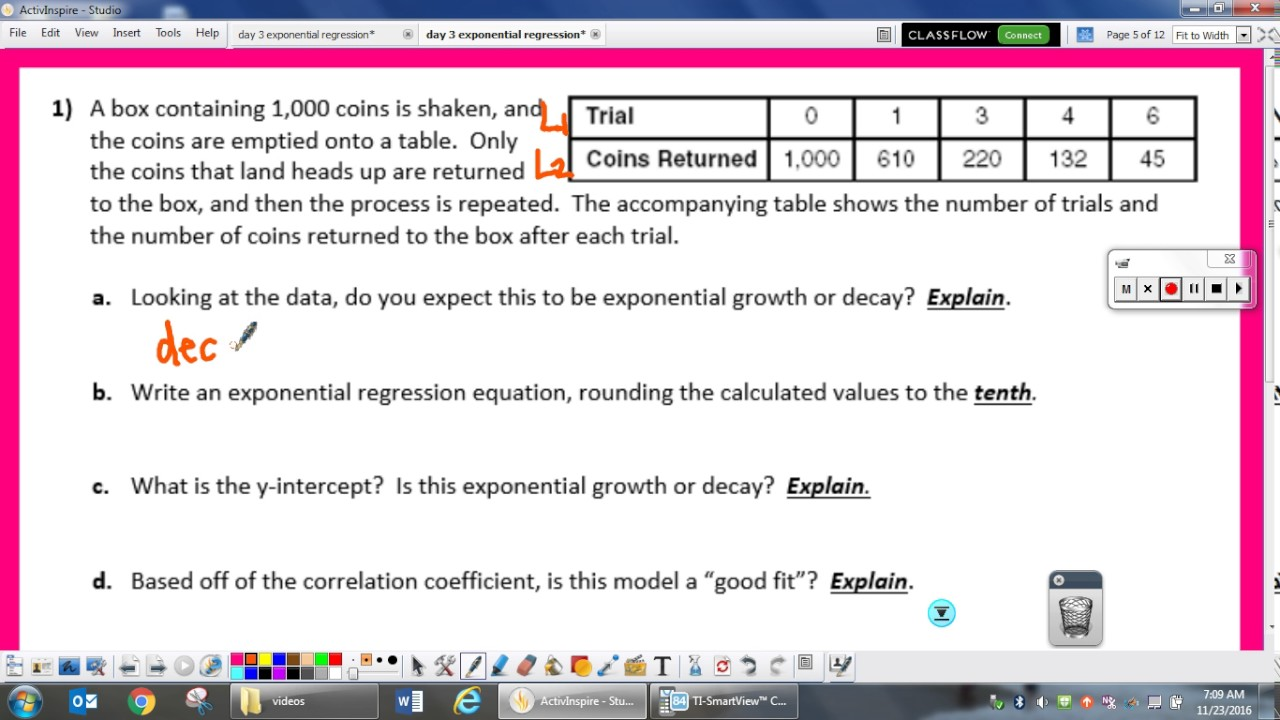 Day 3 Exponential Regression