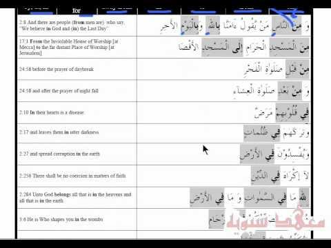 Arabic Course - Lesson 2 Part 17 (review lesson on harf jar)