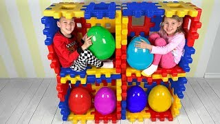 Vania and Mania play Surprise Eggs & Open Toys - Youtube
